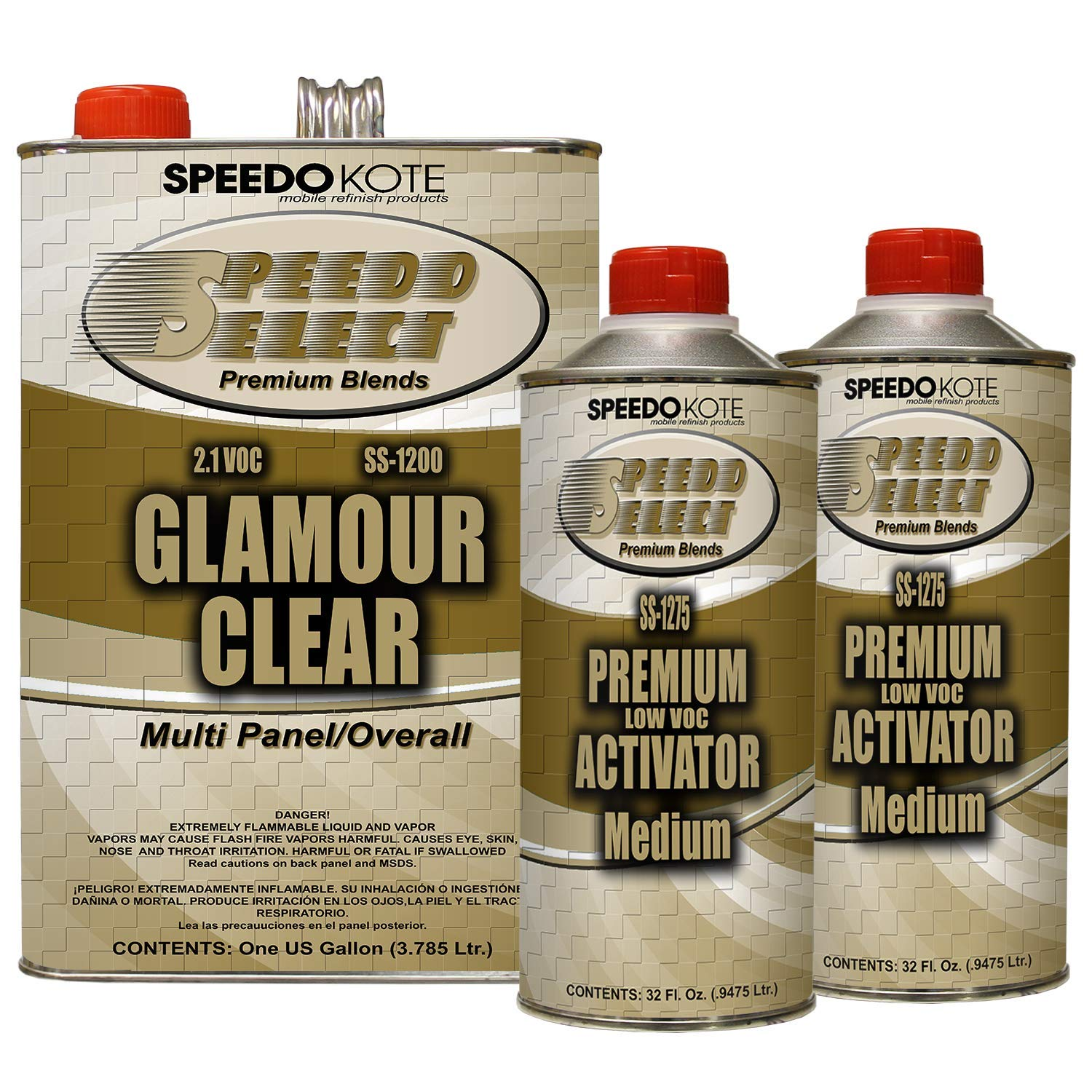 Speedokote SS-1200/75 - Ultra High Gloss with Superior DOI 2.1 voc Clear Coat, 2:1 mix 6 quarts Medium speed clearcoat Kit