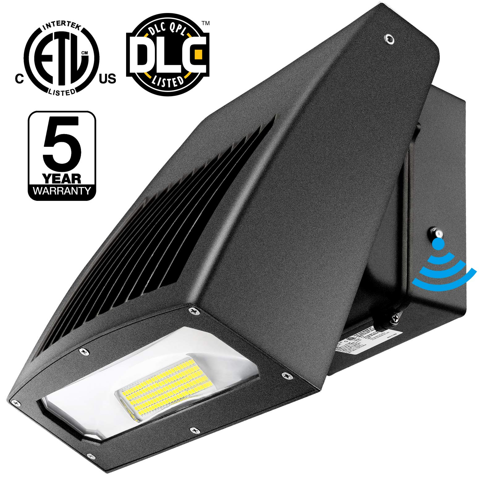 LEDMO 100W LED Wall Pack Light Full-Cutoff 11500LM 0-90° Adjustable Head with Dusk to Dawn Photocell 5000K, 500W HPS/HID Replacement, Outdoor Flood Light Commercial and Industrial Wall Pack Lighting