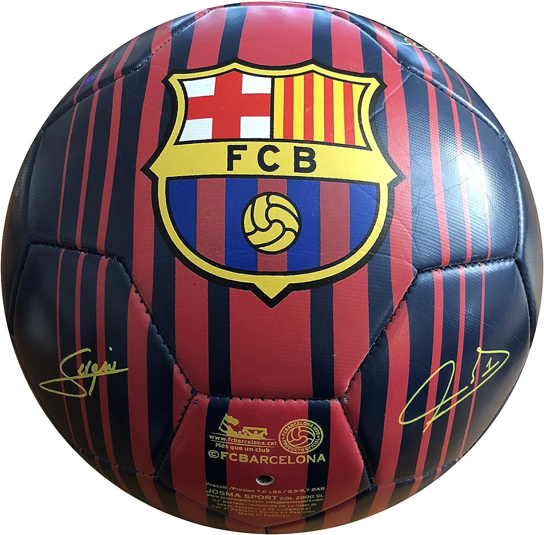 FC Barcelona - Balón f.c. barcelona con escudo y firmas grande ...