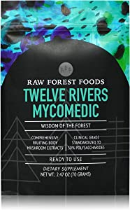 Twelve Rivers MycoMedic — Wild-Harvested and Organic Mushrooms, Expertly Prepared and Ready to Use — 70 Gram Bulk Powder — Adaptogenic, Tonic, and Immune Health — Only from RAW Forest Foods