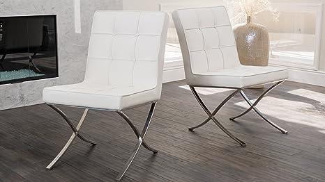 Amazon.com: Pandora diseño moderno Barcelona Sillas Conjunto ...