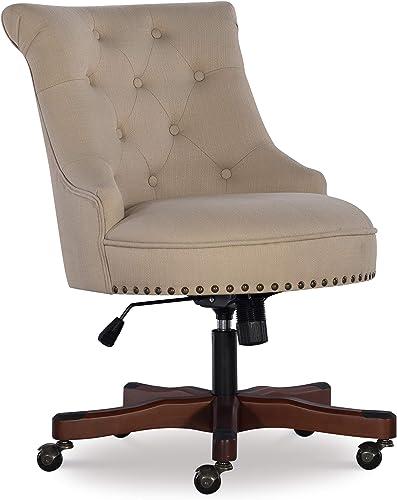 Cheap Linon Home D cor Leslie Beige Office Chair office desk chair for sale