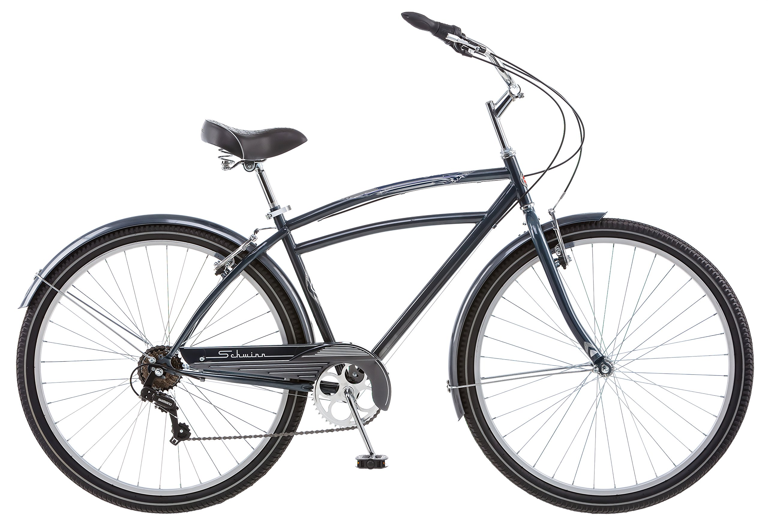 Schwinn S4012C Mens Costin 7 Speed Cruiser Bike, Grey, 29-Inch