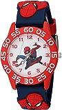 MARVEL Boys Spider-Man Analog-Quartz Watch with Plastic Strap, Blue, 16 (Model: WMA000169)