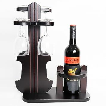 Amazoncom Tuorui Wine Glass Holder Wine Rack Standing Table Top