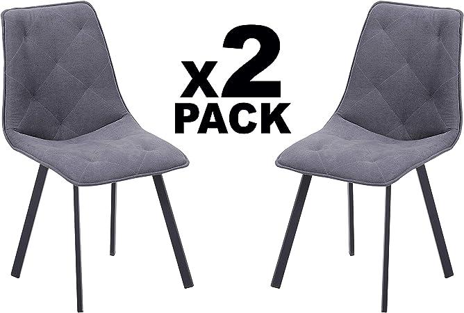 Adec - Diamond, Pack 2 sillas de Comedor Salon o Cocina, Tapizada ...