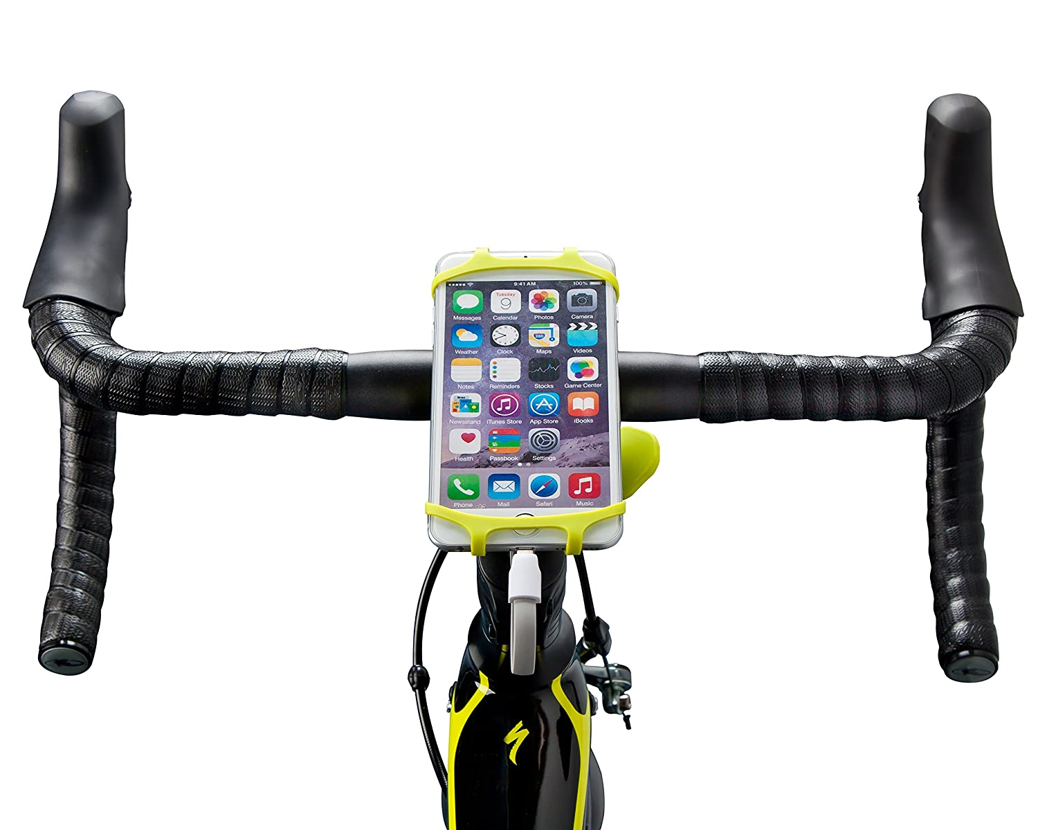 """4/"""" to 6/"""" Phones Universal Bicycle Smart Phone and Power Bank Holder Bike Combo Power Mount Artisan Crafts and Design Samsung Galaxy Adjustable Silicone Handlebar Rack for iPhone Red"""