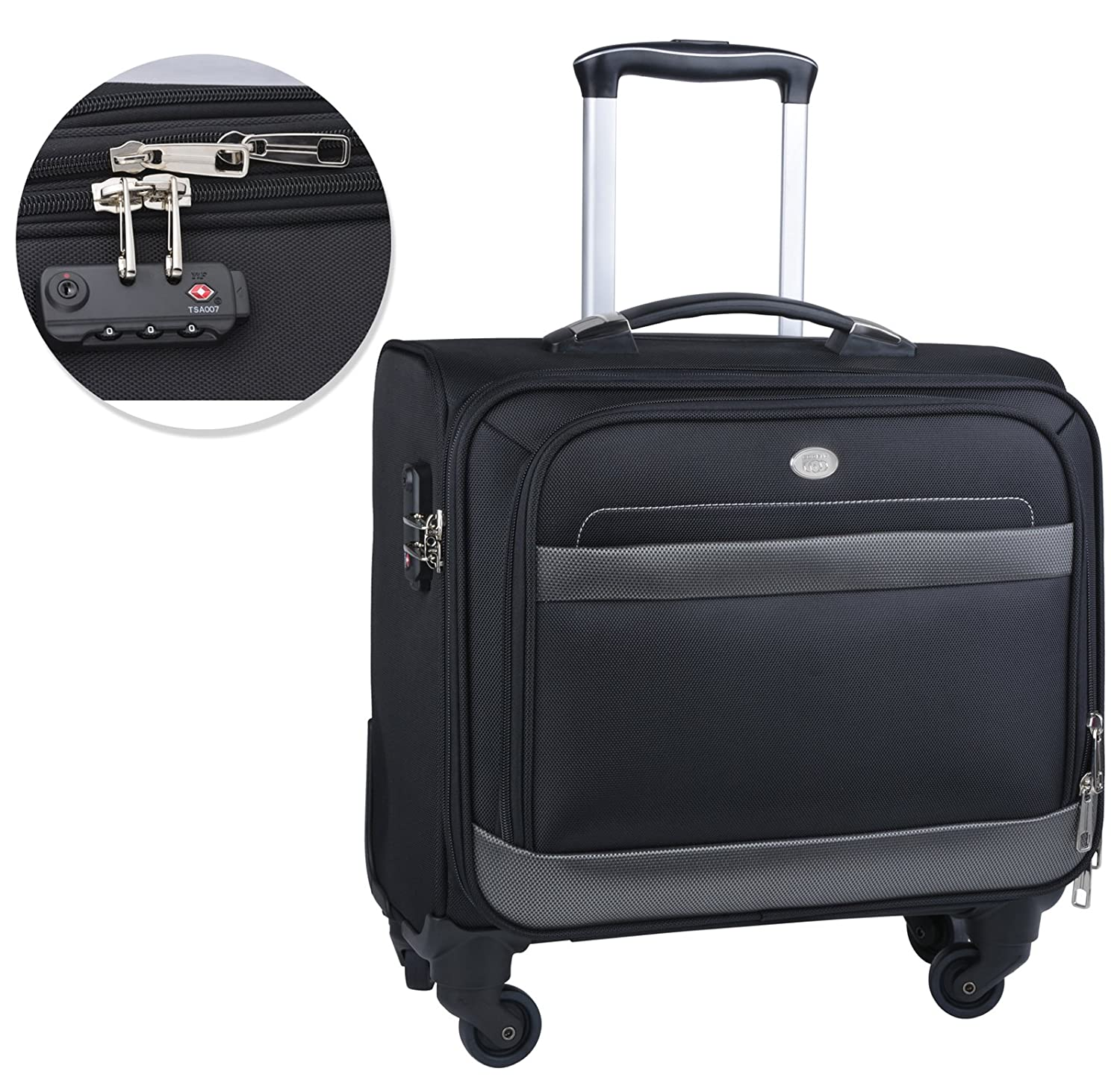 Rolling Laptop Bag, COOFIT Rolling Briefcase