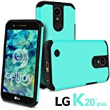 LG K20 Plus Case, LG K20 V Case, LG Harmony Case, LG K10 2017 Case, Celljoy [Liquid Armor] Slim Fit [Dual Layer Series] TPU Protective Hybrid [[Shockproof]] - Thin Hard Cover (Metallic Teal)