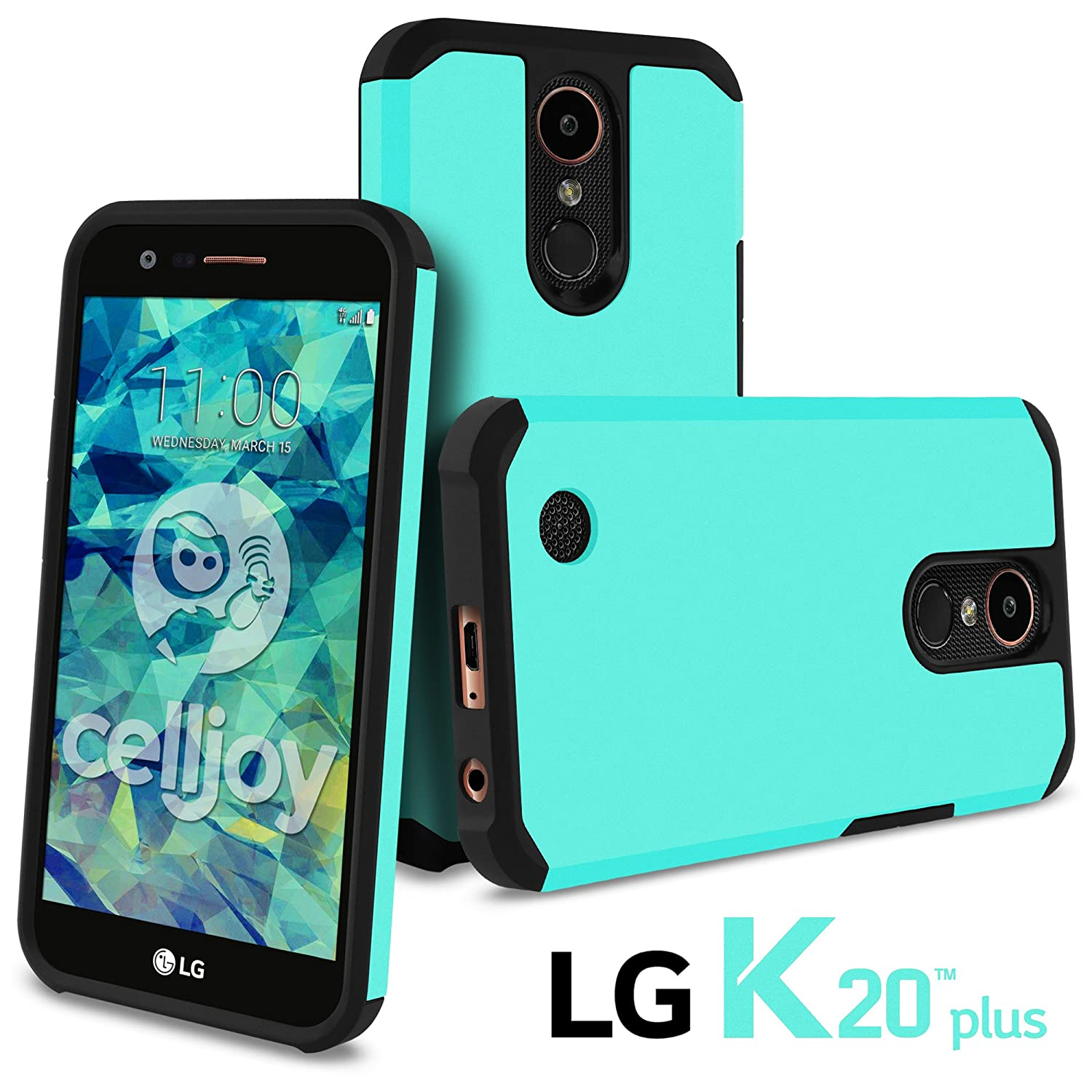 Celljoy Case Compatible with LG K20 Plus, K20 V, Harmony, K10 2017 [Liquid Armor] Slim Fit [[Shockproof]] TPU Skin/Thin Hard Shell Protective Hybrid Cover - Matte (Metallic Teal Blue)