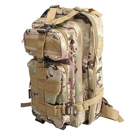 30L Mochila de Marcha Deportivo Exterior Militar Impermeable Molle con Muchos bolsillos para Acampada Camping Senderismo