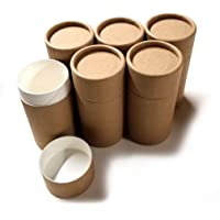Empty Cardboard Deodorant Containers - Push-up style, top-fill, reusable and biodegradable 3.0 oz (6-Pack)