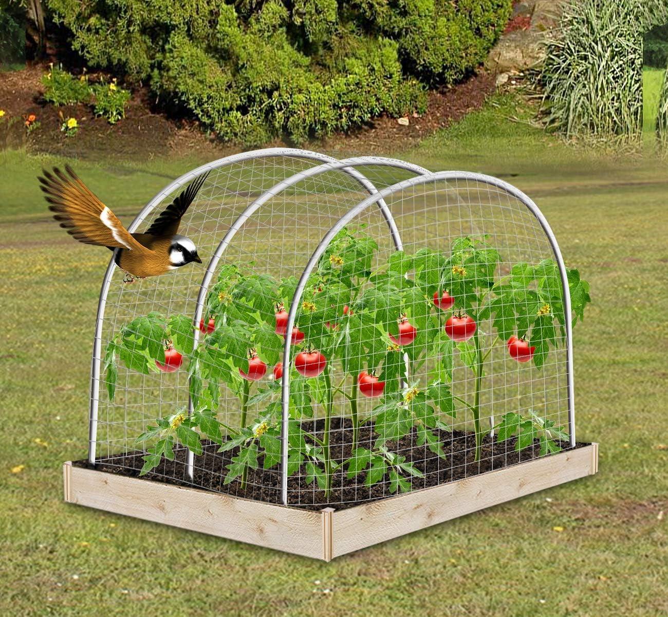 Agfabric Anti Bird Protection Net Fruit Vegetables Flower Garden Pond Netting Bird Catching Net 6x36ft Balck