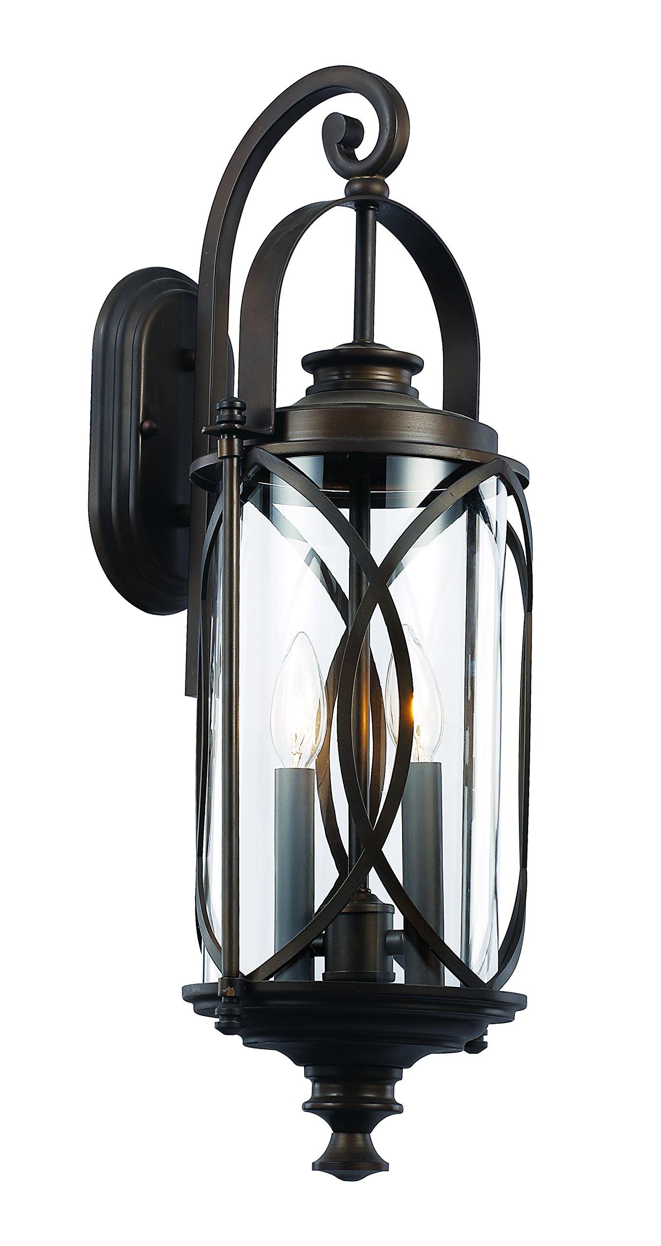 Trans Globe Lighting 40411 ROB Outdoor Fiesta 24'' Wall Lantern, Rubbed Oil Bronze