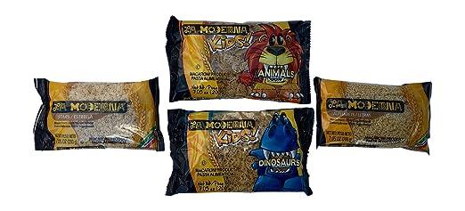 Amazon.com : La Moderna Pasta Kids Pack - Animals, Dinosaurs ...
