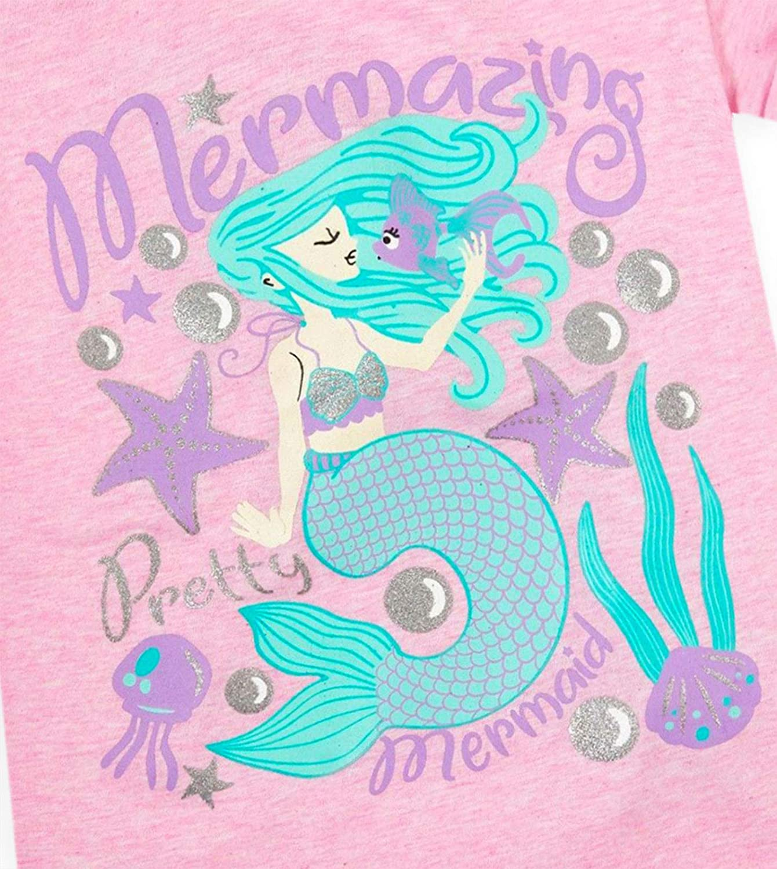 JollyRascals Girls Birthday T-Shirt I Am 1 2 3 4 5 6 Years Old Top Kids New Age Number T Shirt Unicorn Mermaid Lama Cotton Rich Short Sleeve Tops