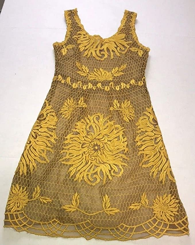 4310b3b05715 Anthropologie Honeycomb Lace Dress by Yoana Baraschi $348 Sz 2 - NWOT at  Amazon Women's Clothing store: