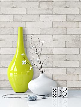 Newroom Papier Peint Brique Blanc Creme Papier Blanc Creme Maison De