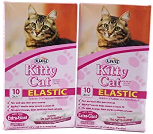 Kitty Cat AlfaPet Extra-Giant Elastic Sta-Put Litter Box Liners 10 Count (Pack of 2)