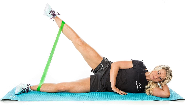 Starwood Sports Set de 5 Bandas de Resistencia - Unisex - para Yoga, Pilates o rehabilitación - Mayor Fuerza y Movilidad - Látex Natural - Garantía de por Vida: Amazon.es: Deportes y aire libre