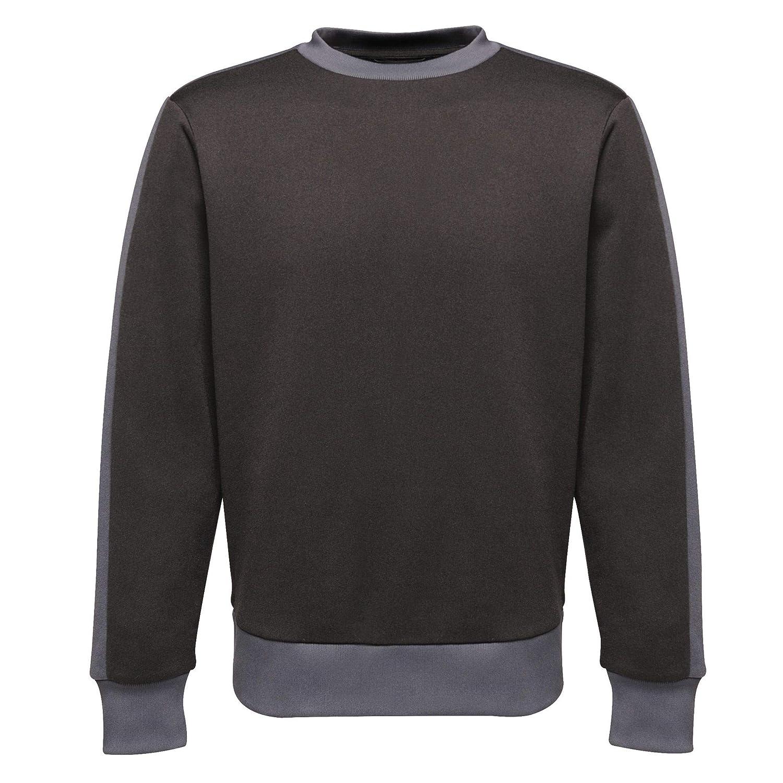 Regatta Mens Professional Contrast Crew Overhead Sweater Sweatshirt