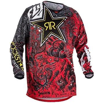 0a4fb745530 Amazon.com: Fly Racing Kinetic Rockstar Men's Red/Black Motocross ...
