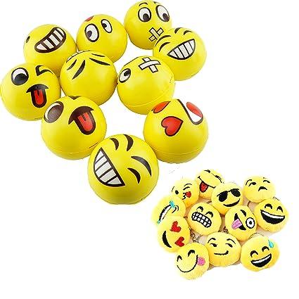 Amazon.com: Conjunto de 3 de Jumbo Emoji Face Amarillo ...