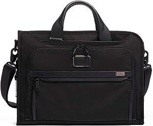 TUMI - Alpha 3 Slim Deluxe Portfolio Bag - Organizer Briefcase for Men and Women - Black