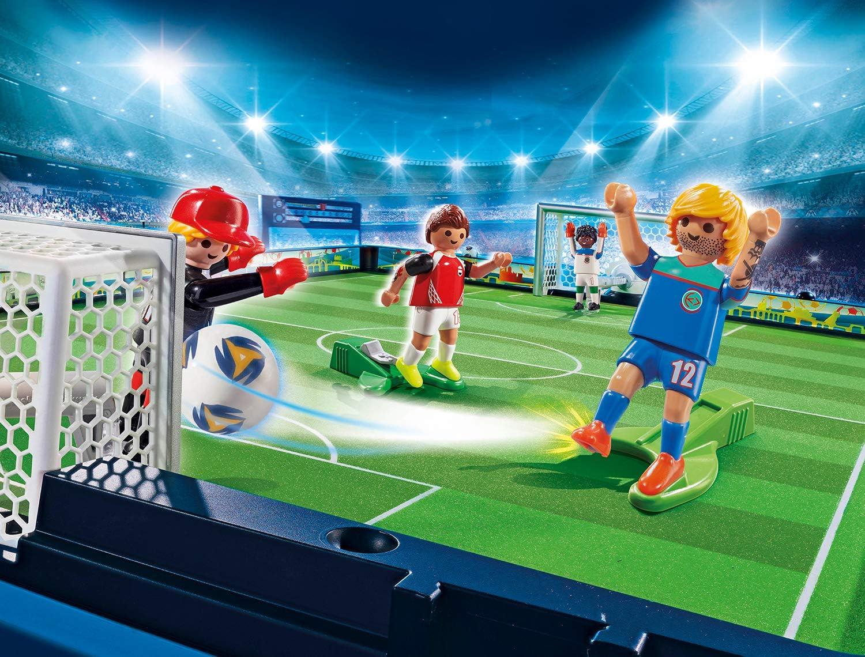 PLAYMOBIL Sports & Action Campo de Fútbol Maletín, con Soporte ...