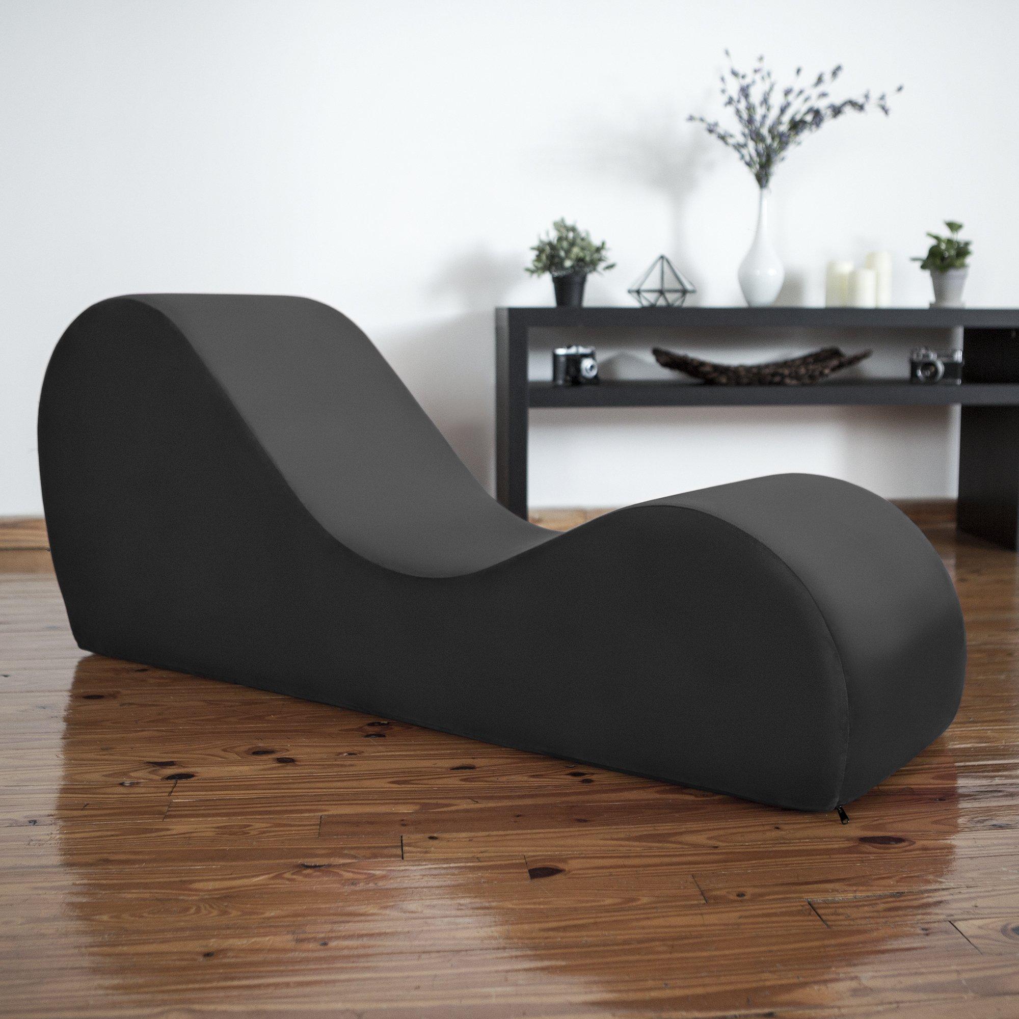 Liberator Kama Sutra Sex Chair Sensual Yoga Chaise - Black Micro-velvet by Liberator