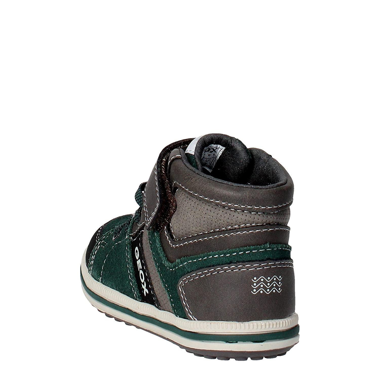 Geox J54A4D Sneakers Bambino Camoscio Grigioverde Grigio
