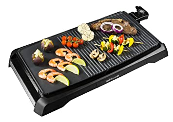 Delightful Andrew James Electric Table Top Grill With Griddle Plate, Non Stick, 1800  Watts