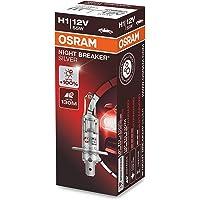 OSRAM NIGHT BREAKER SILVER, H1, +100% meer helderheid, halogeen koplamp, kartonnen vouwdoos (1 lamp)