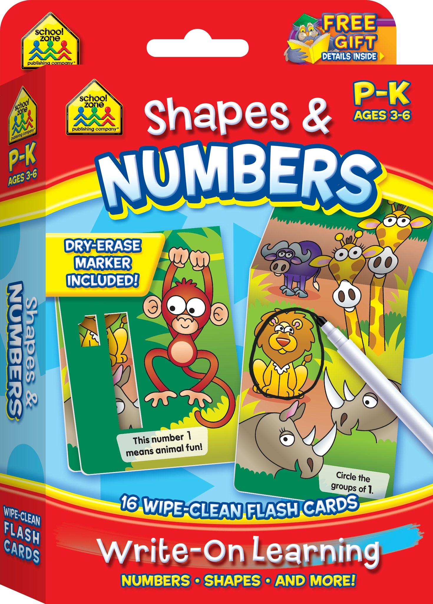 SCHOOL ZONE Write Wipe Clean Kindergarten product image