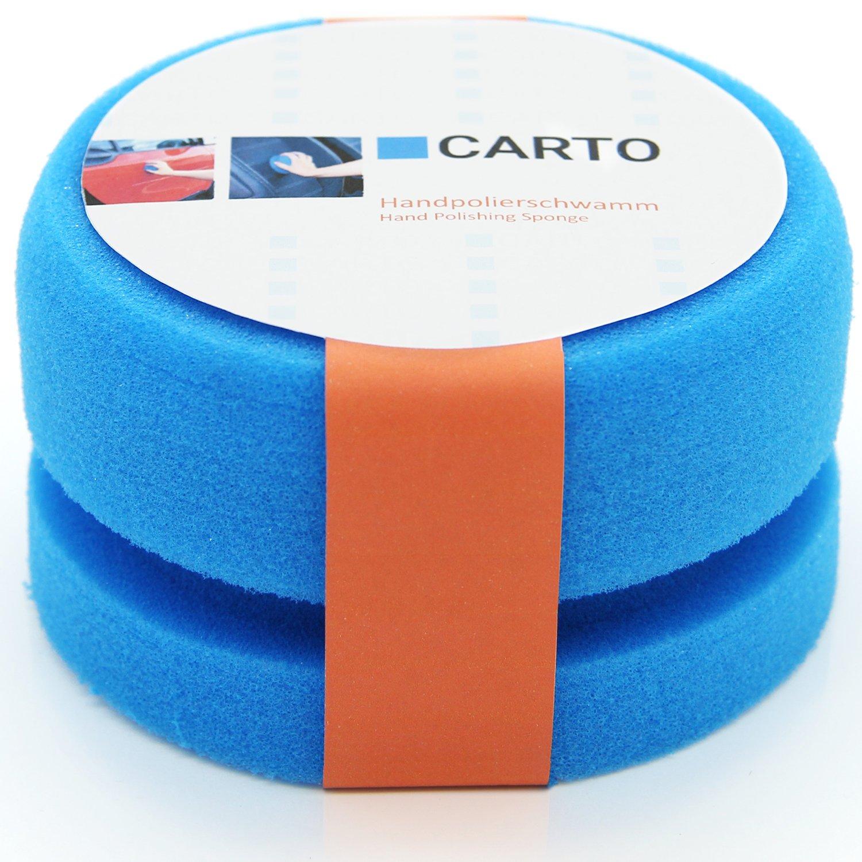 CARTO Esponja de Pulido Manual en Azul para Superficies limpias y Lisas/Esponja para pulir a Mano/Disco de pulir/Esponja para Coches/Esponja Profesional de Pulido Auerbach&Söhne