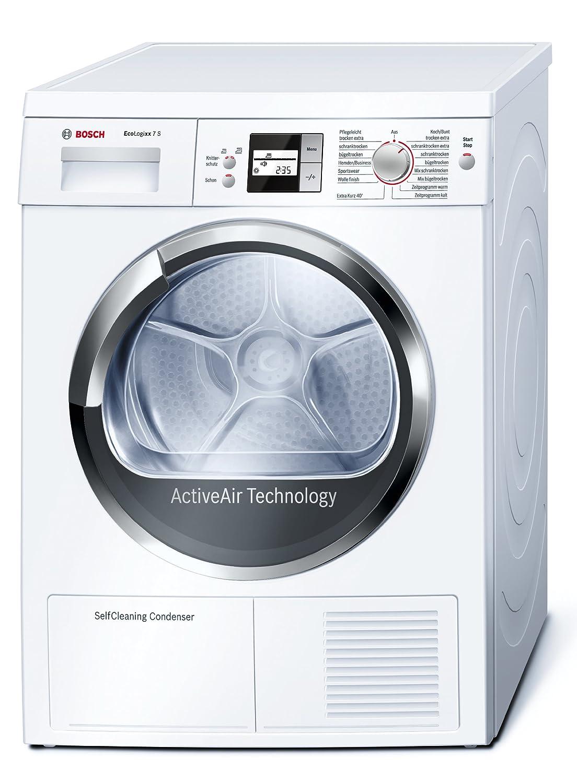 Bosch WTW86562 Wärmepumpentrockner EcoLogixx 7S / A+ / 7 Kg / Weiß /  Einknopf Bedienung / Kindersicherung: Amazon.de: Elektro Großgeräte