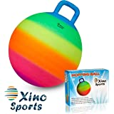 Xino Sports Hopping Ball for Kids, Offers Hours of Incredible Fun for The Whole Family, Amazing Space Hopper Ball, Safe and D