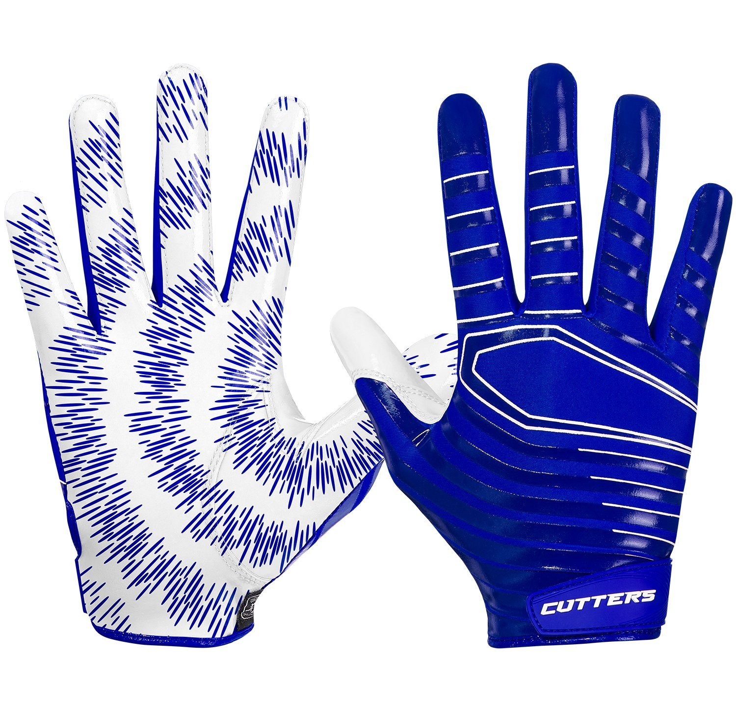 Cutters Gloves Rev 3.0 Receiver Gloves, Royal, Small by Cutters (Image #2)