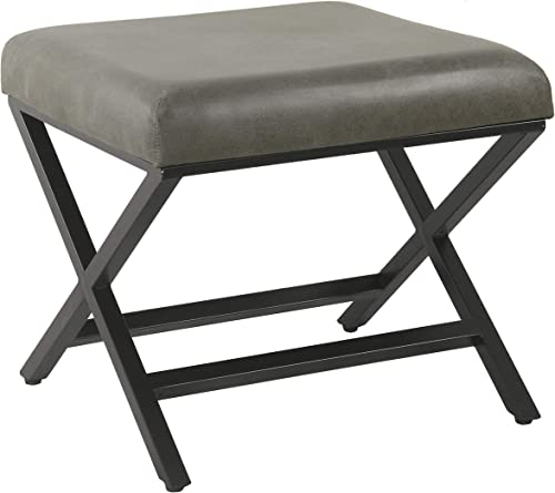 HomePop Modern Square Metal X-Base Ottoman