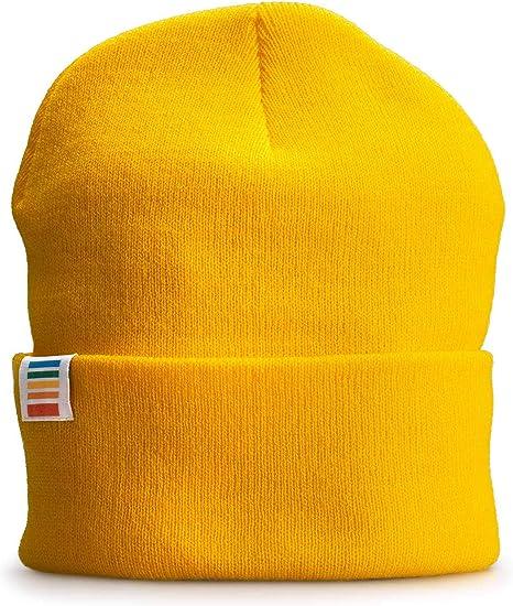 bonnet homme jaune