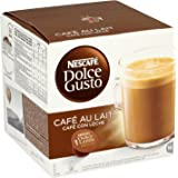 Nescafe Dolce Gusto Cafe Au Lait - Pack of 3 (Total 48 Capsules, 48 servings)