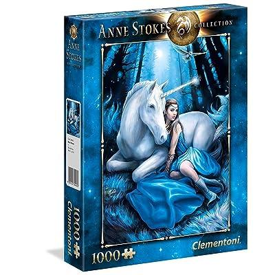 Clementoni 39462 Clementoni-39462-Anne Stokes Collection-Blue Moon-1000 Pieces, Multi-Colour: Toys & Games
