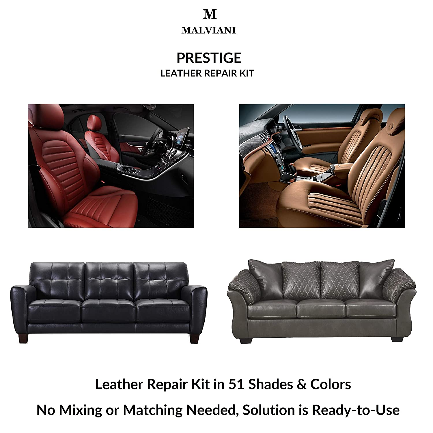 Fine Amazon Com Malviani Leather Repair Kit Renew Restore Interior Design Ideas Gresisoteloinfo