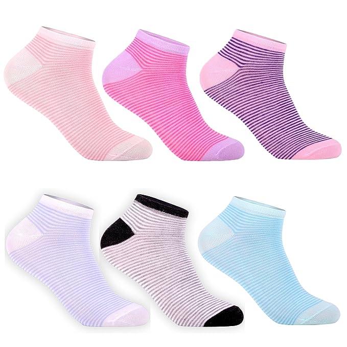 Libella Pack de 12 Calcetines para mujer Sneaker Cortos de algodón multicolor 92228 35/38