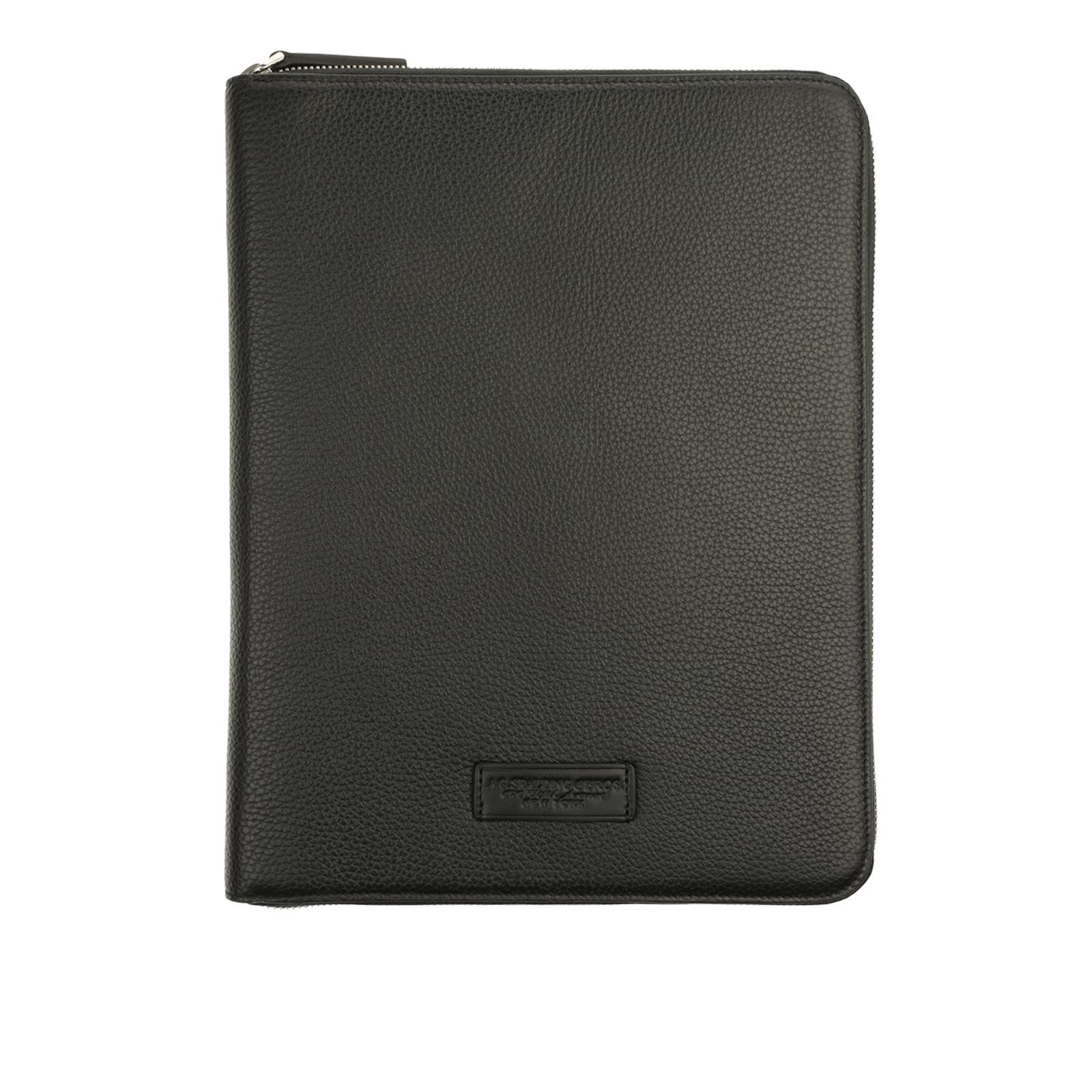 A.G. Spalding and Bros. Vermont Calf Leather A4 Notebook Holder with Zip, Black