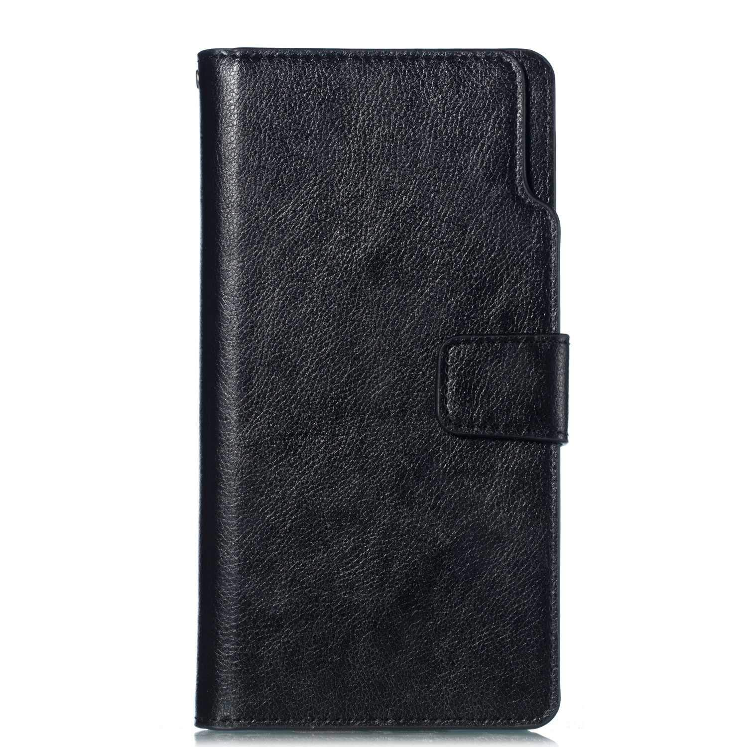 UNEXTATI Galaxy Note 8 Wallet Case, Leather Folding Flip Case with 9 Card Holder, Classic Design Protective Cover Bumper Case for Samsung Galaxy Note 8 (Black #3)