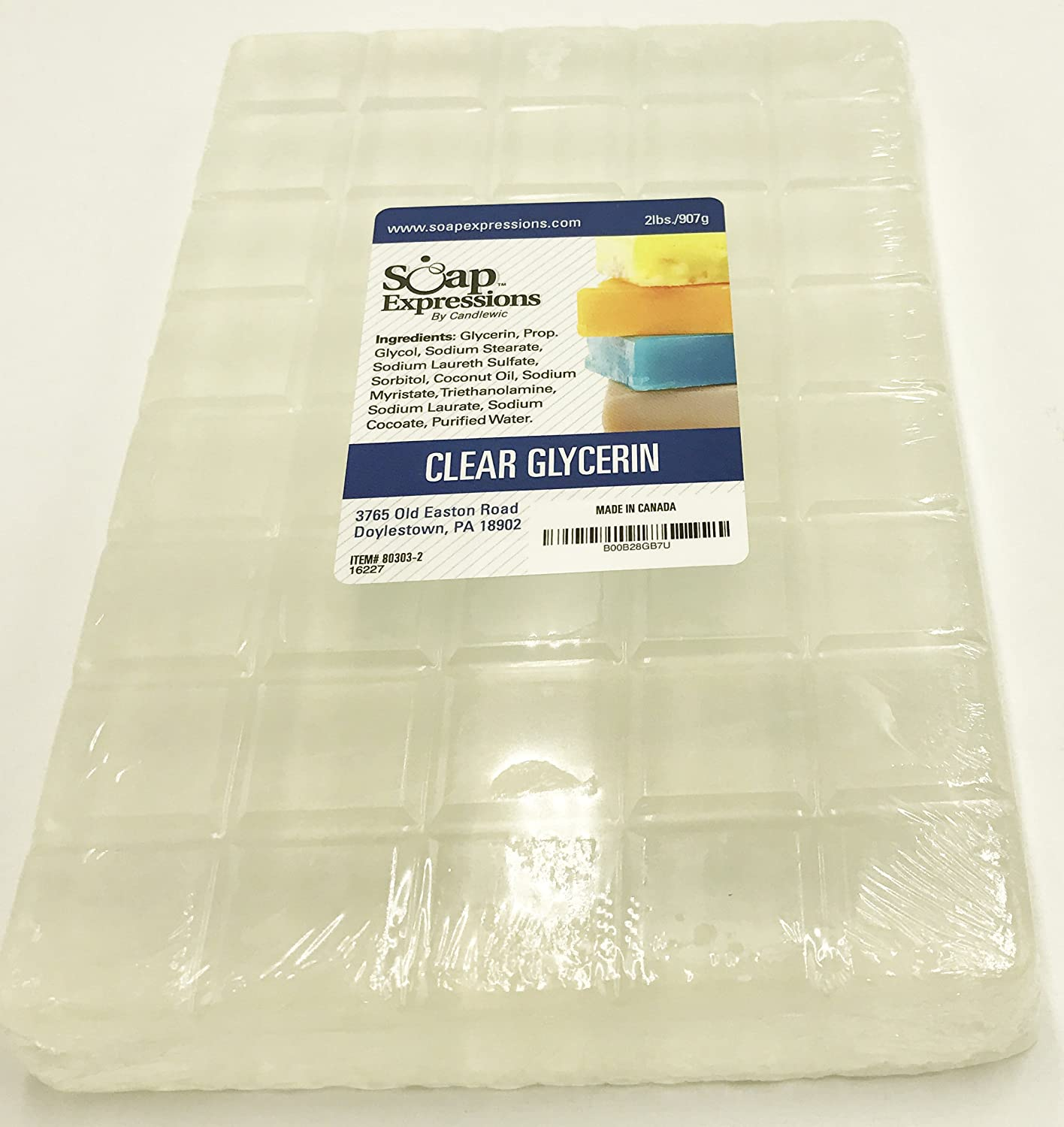 Soap Expressions - Clear Glycerine Soap Base- 2lb