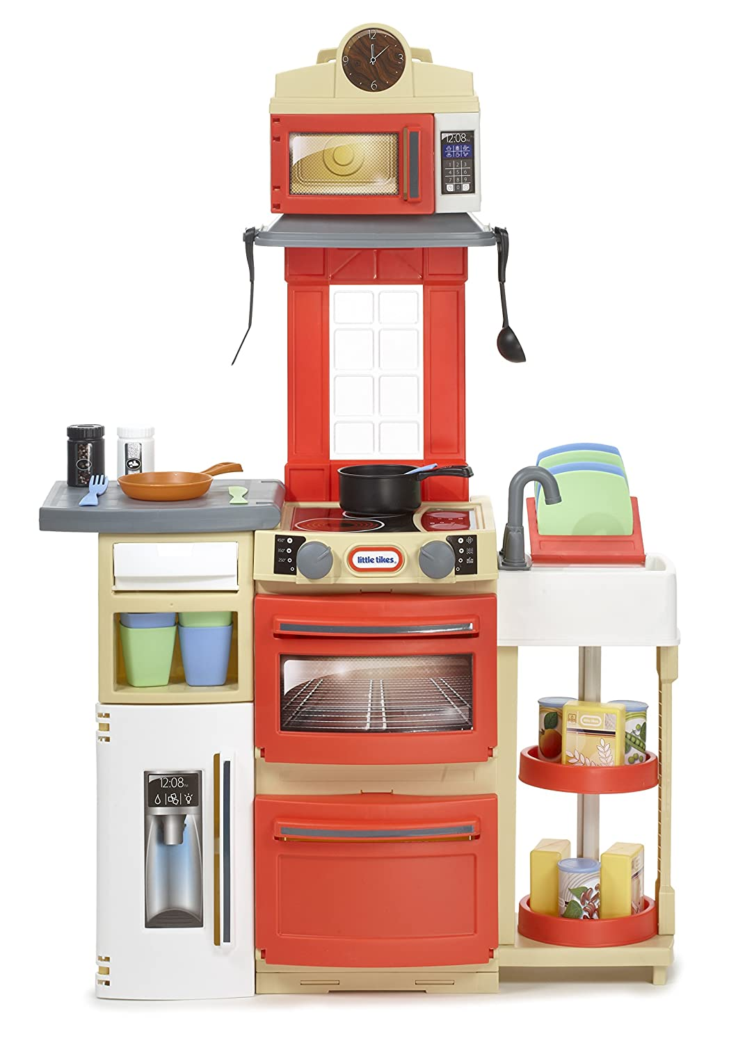 Little Tikes Cook \'n Store Kitchen (Red): Little Tikes: Amazon.co.uk ...