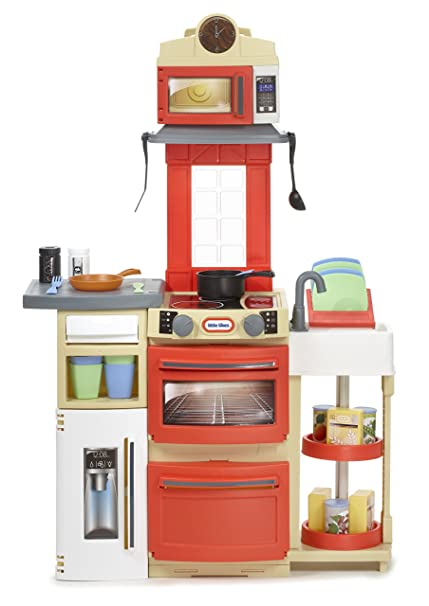 little tikes cook n store kitchen playset red - Kitchen Playset