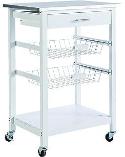 Demeyere 365072 - Mesa de servicio para la cocina (acero inoxidable), color blanco